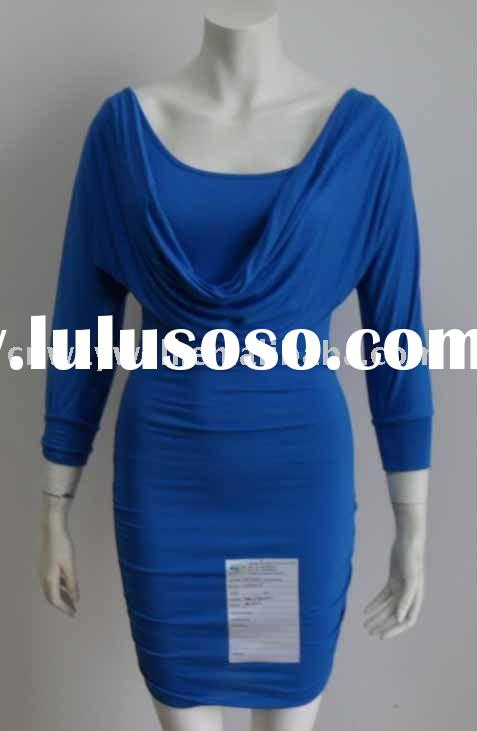 Ladies fashion single jersey casual dress