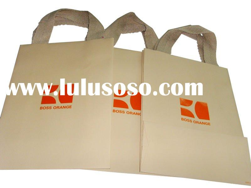 Lined brown paper bags