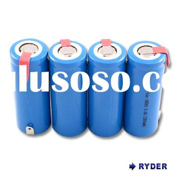 Lithium Ion 18500 3.6V 1300mAh cylindrical rechargeable battery with tabs