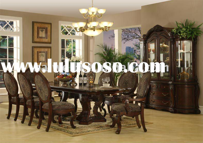Luxury Classic American Style Antique Wooden Dining Room