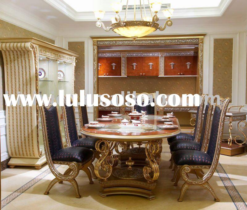 Luxury & classical dining room furniture set, soild wood, hand carved, MOQ:1SET(B23557)