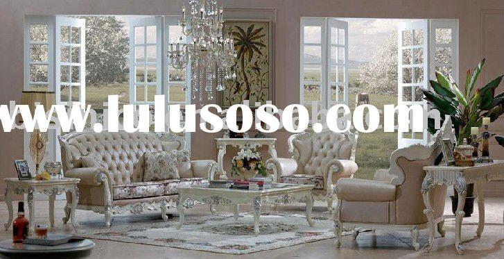 Luxury soli wood French country style living room furniture B49152