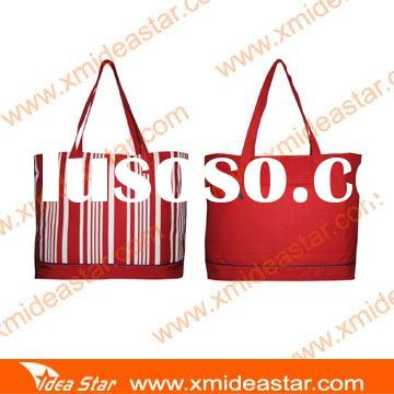 M2 red polyester tote bags