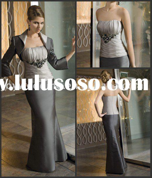 MM0452 Free shipping with jacket formal mother of the bride dresses