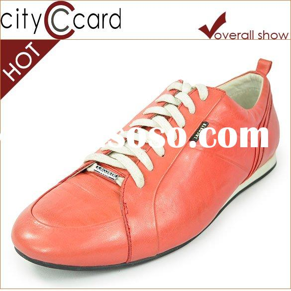 Men fashion genuine leather casual shoes