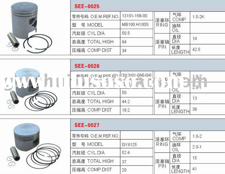 Motorcycle Parts/Motorcycle Piston Kit(MB100,H100S,GN5,CD100,GY6-125)