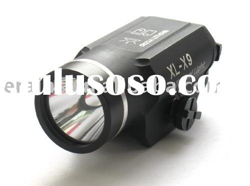 Mount integrated tactical led light or tactical led flashlight with CREE Q5 200 or 225 lumen strobe