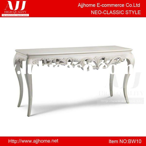 Neo-classic style white painted dressing table