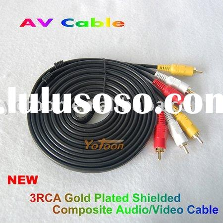 New 3M RCA Cable 3 to 3 Audio Video AV Stereo Ideal to use with VHS, DVD, TV, Amps, Hi-Fi, home cine