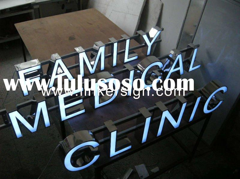 New LED product! Advertising Acrylic Face Illuminated LED Channel Letter Sign