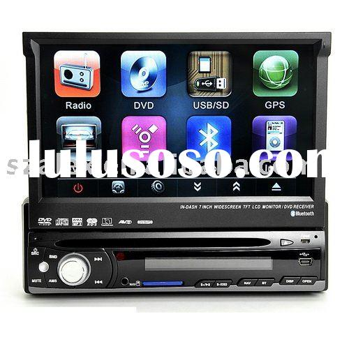 ONE DIN IN DASH CAR DVD WITH 7 NCH MOTOIZED LCD AND BLUETOOTH /RDS /RADIO/INDASH CAR DVD