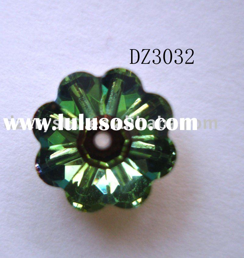 Plum flower shape jewelry ornament button