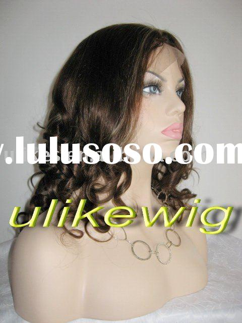 Pretty Curl Indian Remy lace wigs