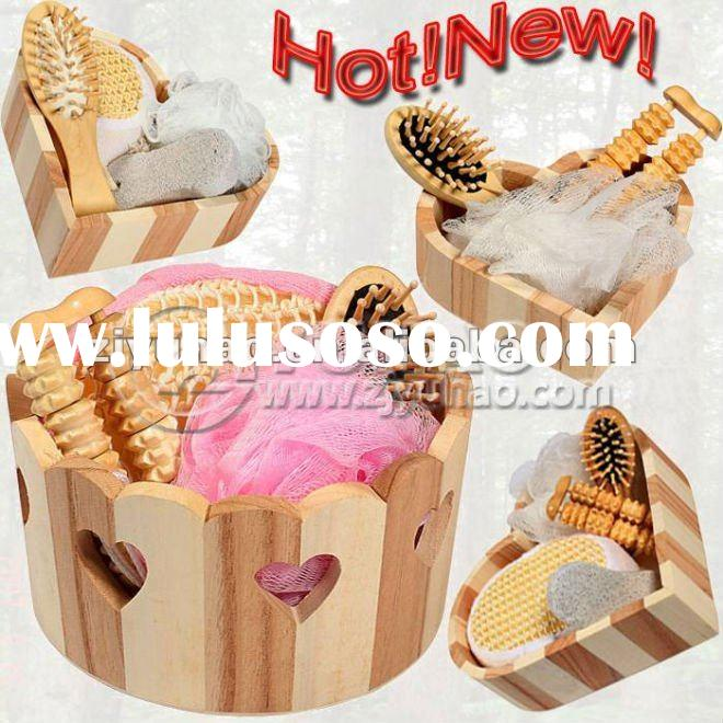 Promotional Natural Wooden Bath Gift Set