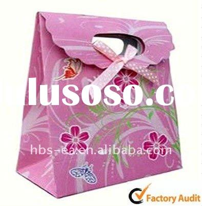 Promotional Silver Hot Stamping Paper Gift Bags For 2012