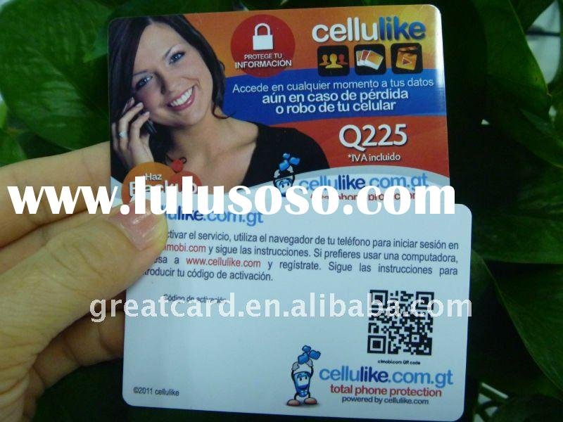 QR code full color offset printing plastic membership card