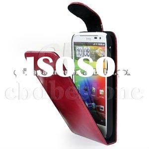Red Glossy Leather Flip Case Cover for HTC Sensation XL G21