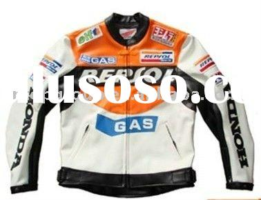 Repsol brand motorcycle leather jacket