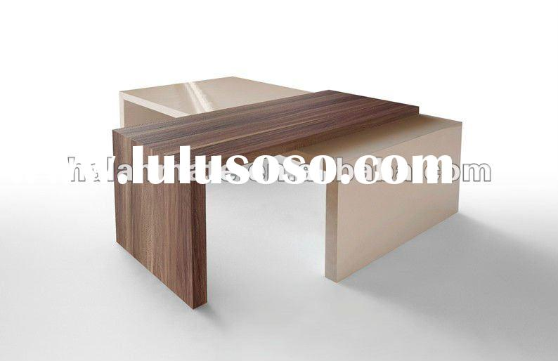 Rotating MDF Coffee Table With high gloss lacquer
