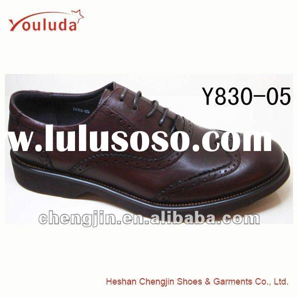 Round toe spanish leather shoes for men Y830-05