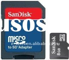 Sandisk 8GB Class 4 Micro SDHC card (MicroSD card) Memory Card with adapter item no. SDSDQB-008G MOQ