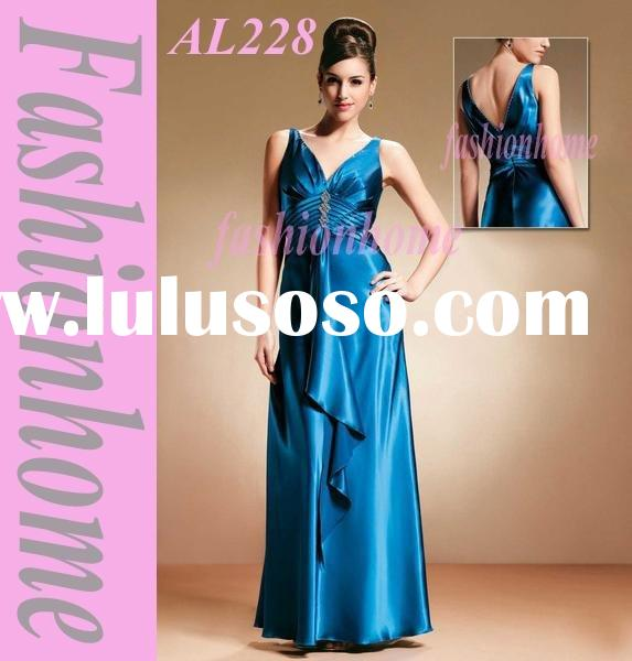 Sleeveless Lady evening gown, Fashion lady night dress,Summer occasion gown AL228
