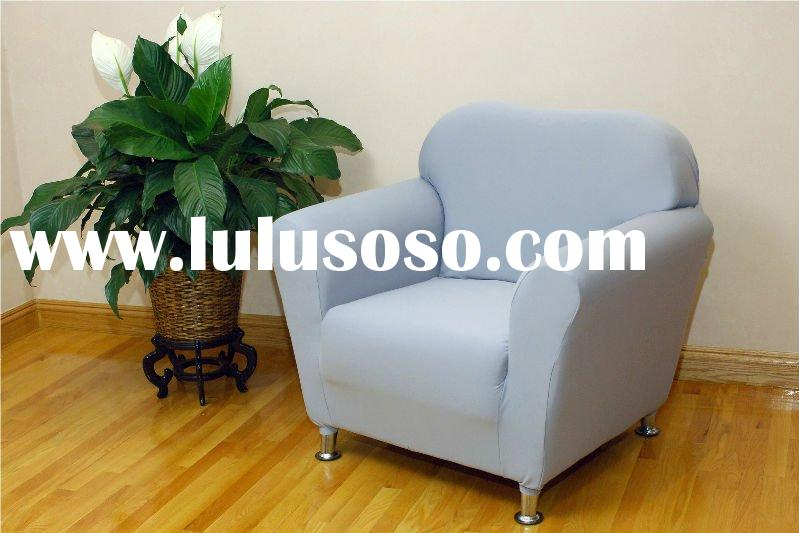 Stretch chair slipcover (Fitted armchair sofa furniture cover with elastic bottom)