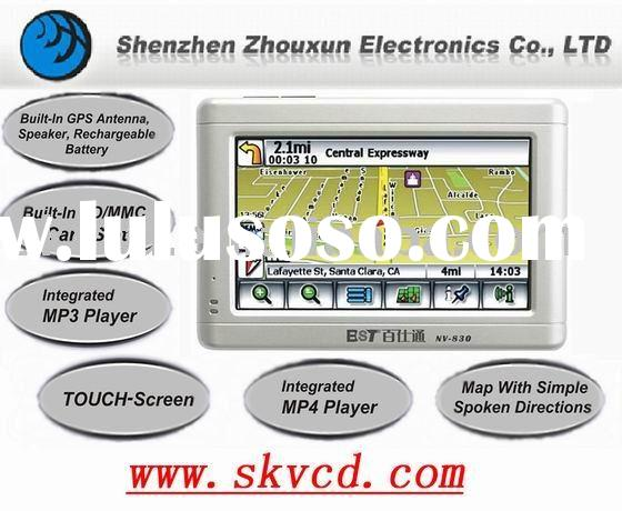 Super slim 4.3 inch TFT screen GPS navigation with FM transmitter,photo view,text reading,SD card,mp
