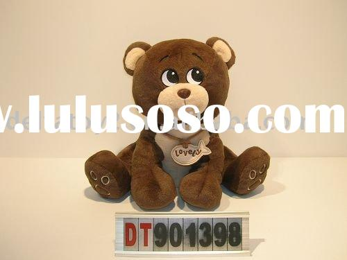 Teddy bear, plush animal toy, soft toy, sitting bear