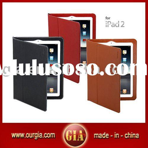 Top Quality Genuine Leather Case for iPad 2