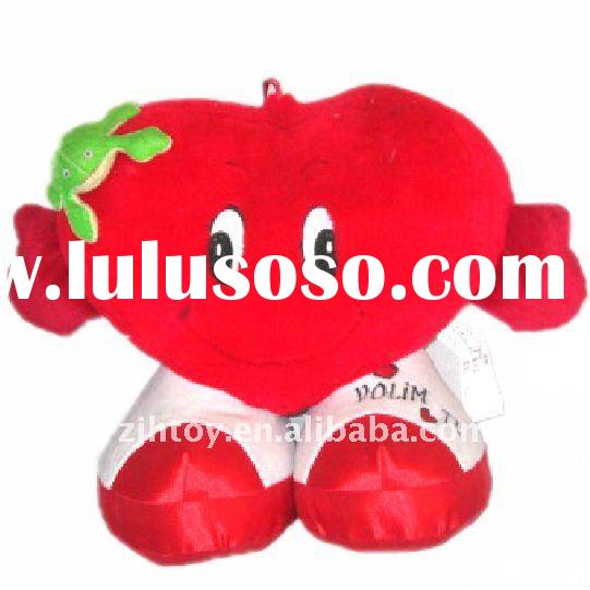 Valentine Plush Gift,Soft Toy Lovely Red Frog With Heart