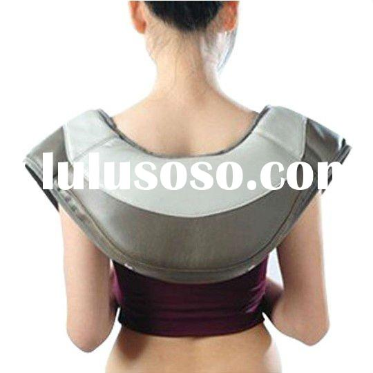 Vibrating wrap neck and shoulder massager heating pad SM9200