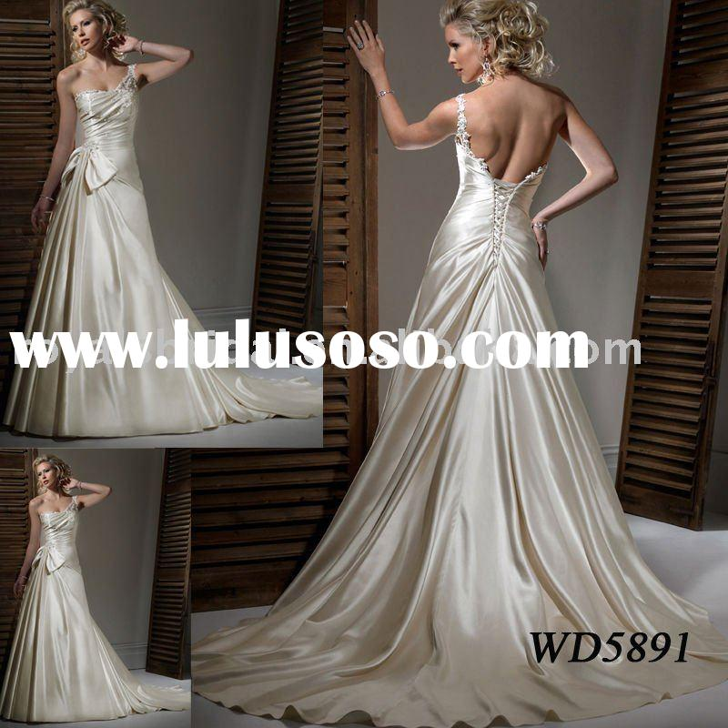 WD5891 Fashion Design One Shoulder Wedding Dress 2011