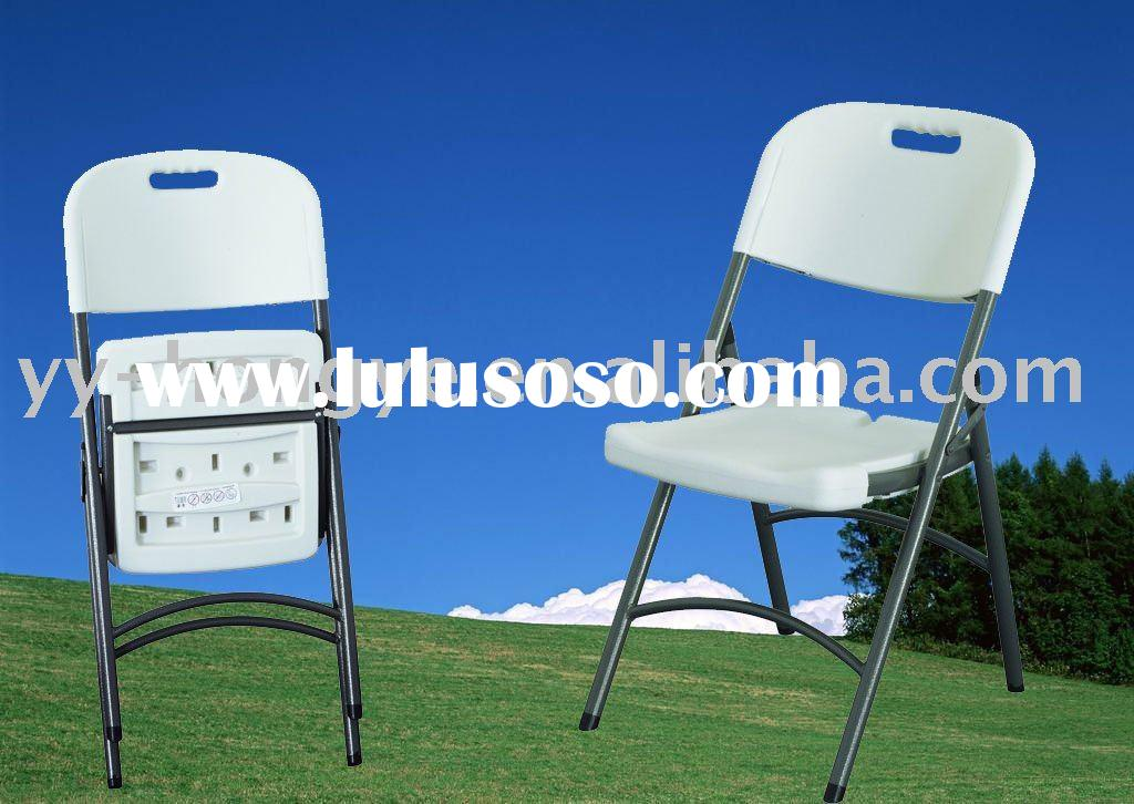 White plastic camping foldable chair