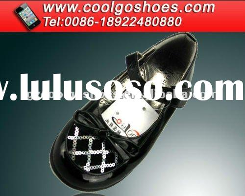 Wholesale 2012 spring lovely flower girl shoes made in chiang guangzhou factory