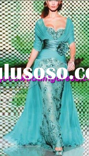 Wholesale Hot Sale Short Sleeve Lace Flower Belt Decoration Prom Dresses