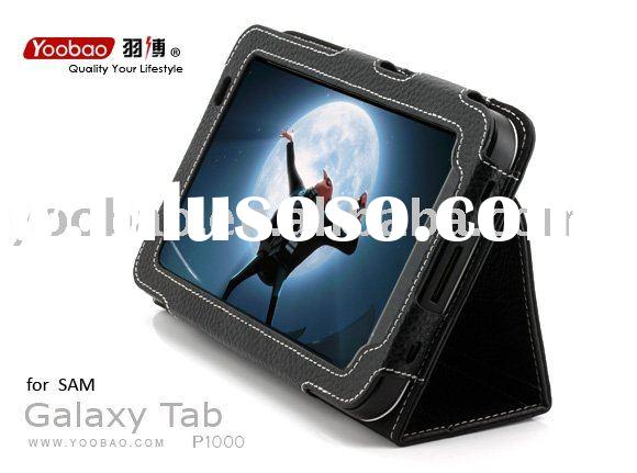 Yoobao Executive Leather Case Fit For Samsung Galaxy Tab P1000 Black, 100% Cow Leather Black
