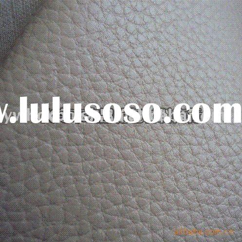 (Can produce Environmental materials) PU articificcal carseat leather material with Litchi grain