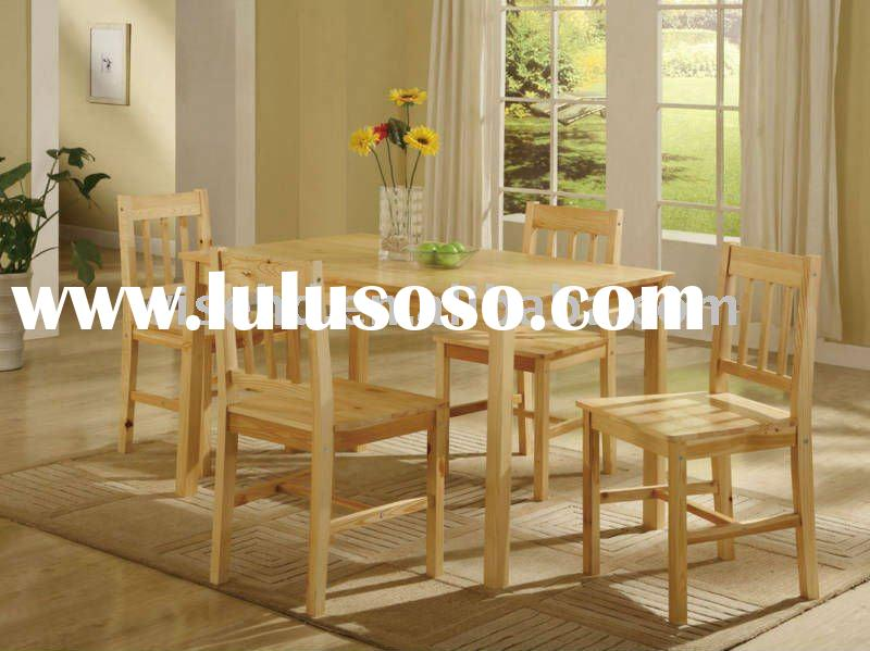 (W-5S-613) high quality pine wood dining furniture