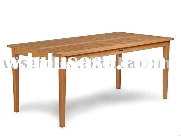 (W-T-350) solid wood rectangle knock down table