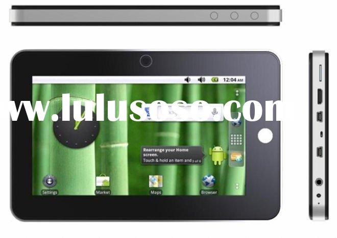 android 2.2 7 inch flash player 3g game capaciititve multi touch pc laptop MID tablet pc 1.3m webcam