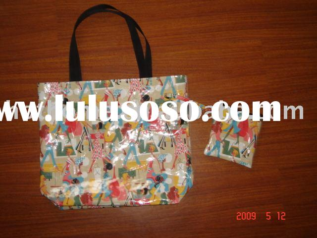 canvas shopping bag/ tote bag/ cotton coated PVC bag