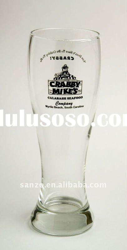 clear beer glass mug/lead-free beer glass stein with logo