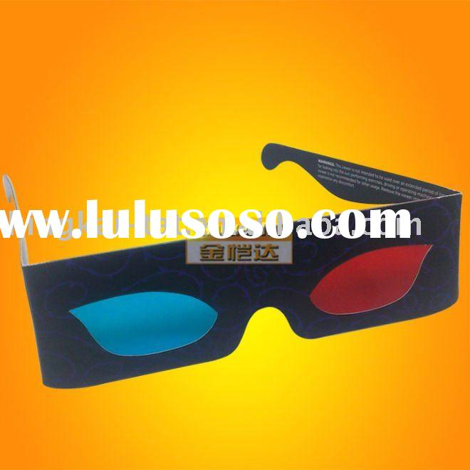 disposable paper 3d glasses with red/blue lens