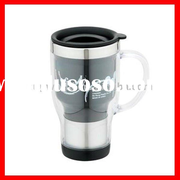 double wall plastic mug with paper insert