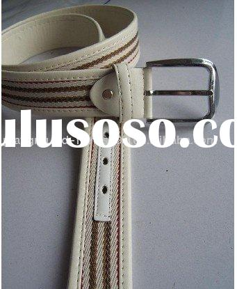 fashion cotton and pu made belt for men