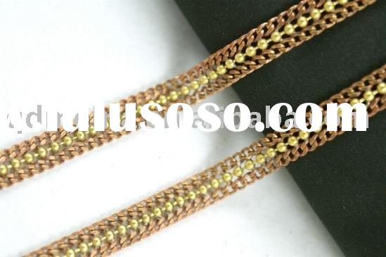 fashion men's copper jewelry chain/gold plated bracelets