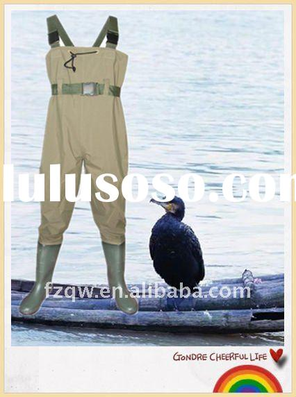 fly chest wader fishing boots with belt