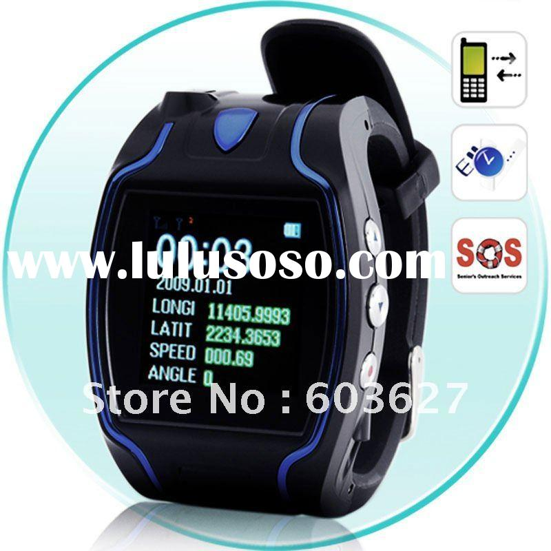 gsm gprs phone calls SOS SMS inquiry real time tracking gps tracker watch
