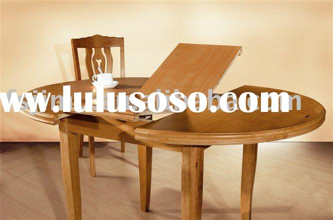 high end furniture brown wooden folded dining table